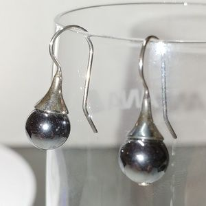 Silpada earrings Sterling Silver and Hematite